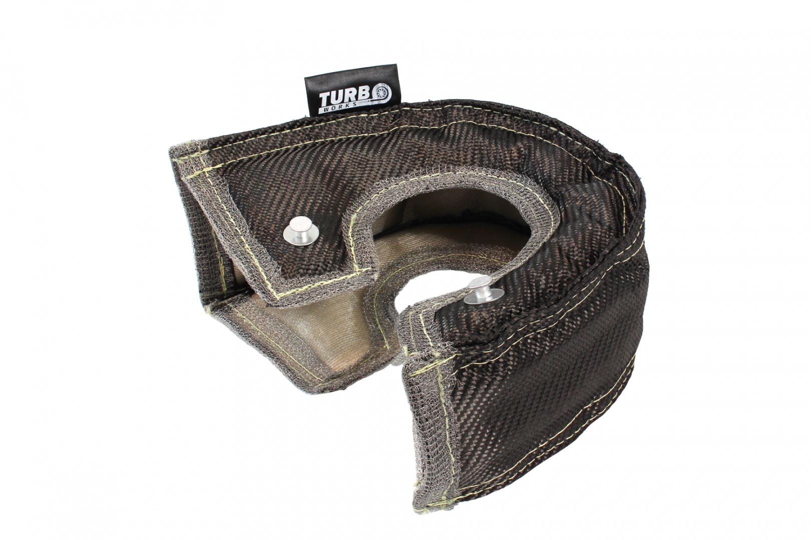 Koc termoizolacyjny na turbiny T3 TurboWorks PRO Black - GRUBYGARAGE - Sklep Tuningowy